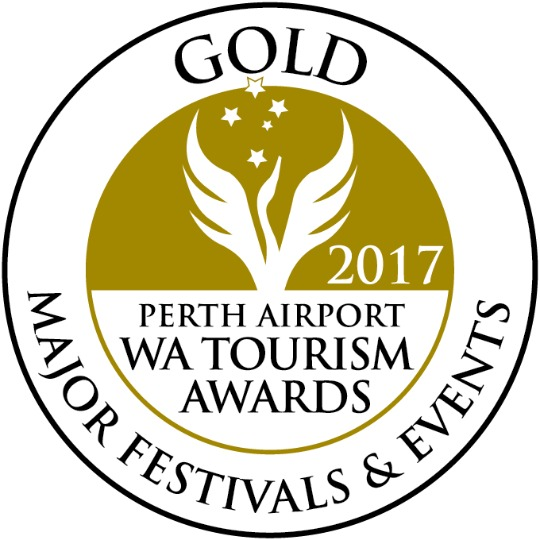 Image of 2017 Perth Airport WA Tourism Gold Award for Major Festivals and Events